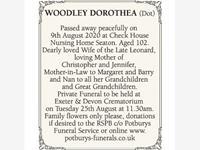 DOROTHEA WOODLEY (Dot)