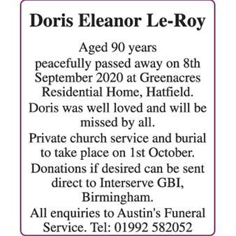 Doris Eleanor Le-Roy