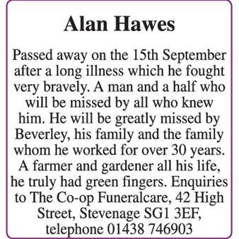 Alan Hawes