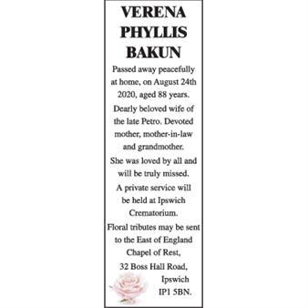 VERENA PHYLLIS BAKUN