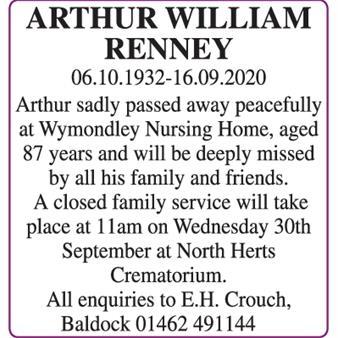 ARTHUR WILLIAM RENNEY