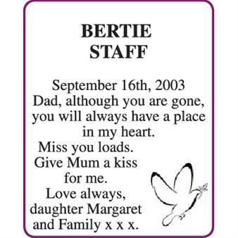 BERTIE STAFF