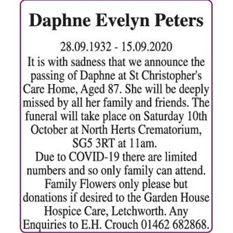 Daphne Evelyn Peters