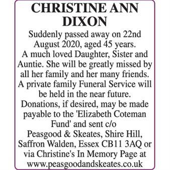 CHRISTINE ANN DIXON