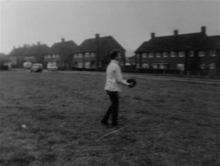 Nell Young's photo collection.Robbie showing his football skills