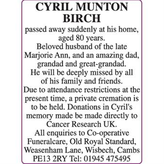 CYRIL MUNTON BIRCH