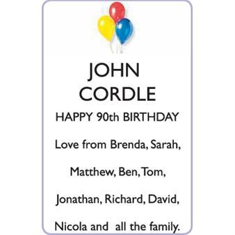 JOHN CORDLE