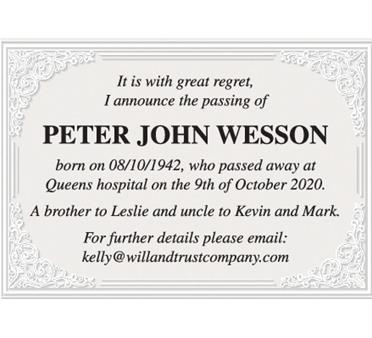 Peter John Wesson