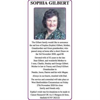 SOPHIA GILBERT
