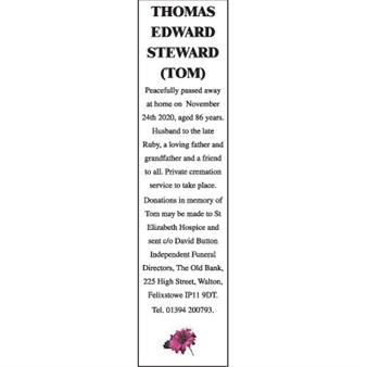 THOMAS EDWARD STEWARD (TOM)