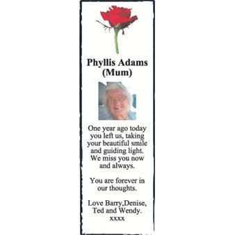 Phyllis Adams (Mum)