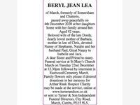 BERYL JEAN LEA