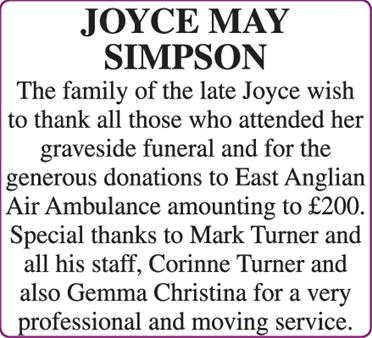 JOYCE MAY SIMPSON