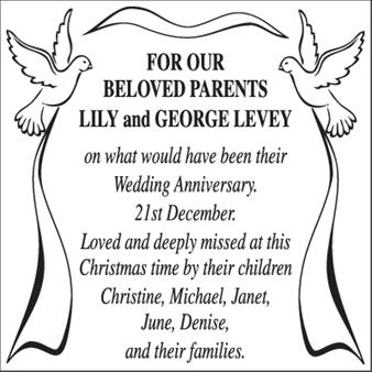 Lily and George Levey