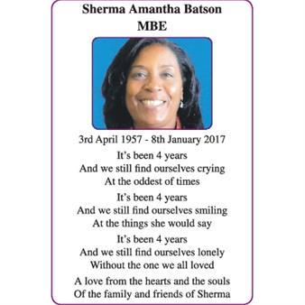 Sherma Amantha Batson MBE
