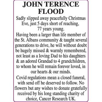JOHN TERENCE FLOOD