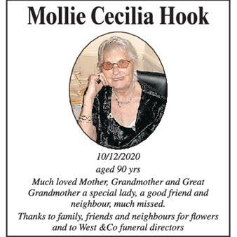 Mollie Cecilia Hook
