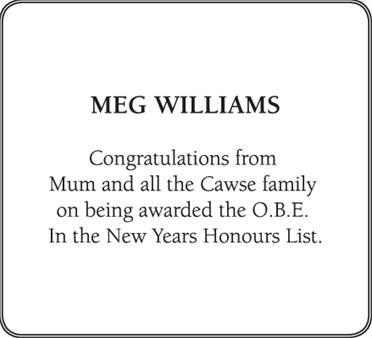 MEG WILLIAMS