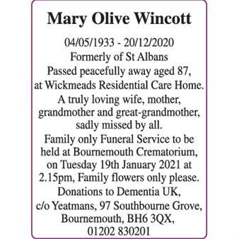 Mary Olive Wincott
