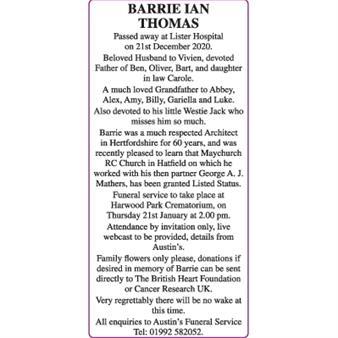 Barrie Ian Thomas
