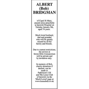 ALBERT (BOB) BRIDGMAN