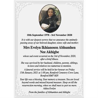 Mrs Evelyn Ikhianosen