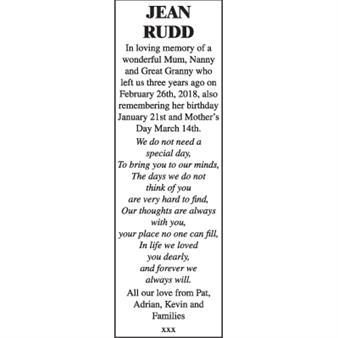 JEAN RUDD