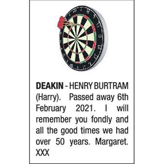 HENRY BURTRAM (HARRY) DEAKIN