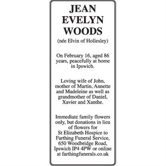 Jean Evelyn Woods