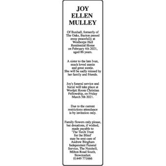 Joy Ellen Mulley