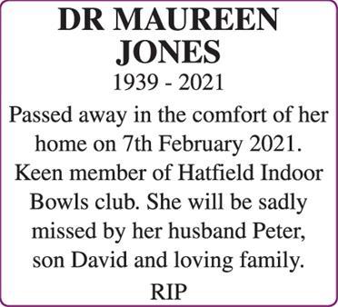 DR MAUREEN JONES
