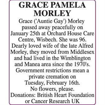 GRACE PAMELA MORLEY