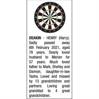 HENRY (HARRY) DEAKIN