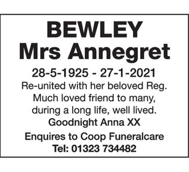 Mrs Annegret Bewley