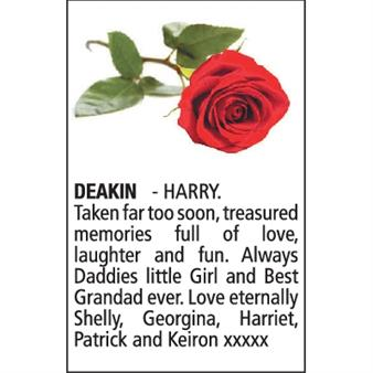 HENRY (HARRY) DEAKIN