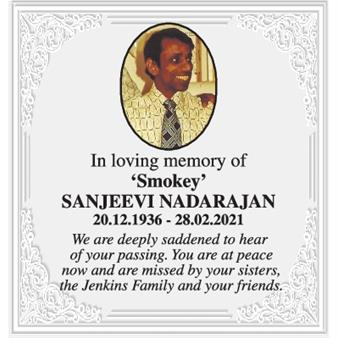 'Smokey' Sanjeevi Nadarajan