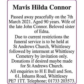 Connor Mavis Hilda
