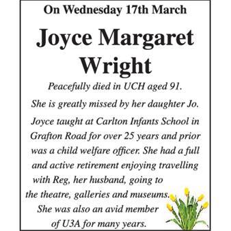 Joyce Margaret Wright