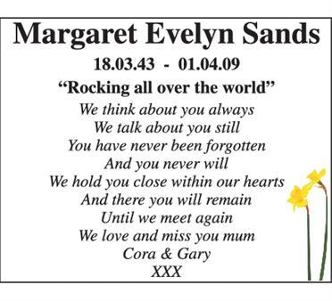 Margaret Evelyn Sand