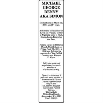 Michael George Denny AKA Simon