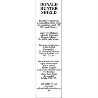 Donald Hunter Shield