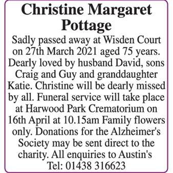 Christine Margaret Pottage