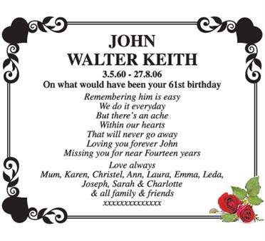 John Walter Keith