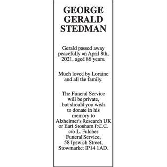 GEORGE GERALD STEDMAN