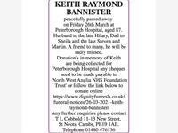 KEITH RAYMOND BANNISTER