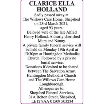Clarice Ella Holland