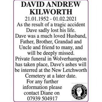 DAVID ANDREW KILWORTH