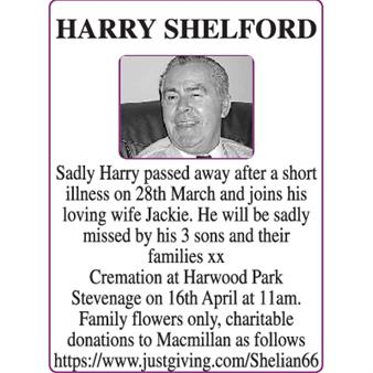 HARRY SHELFORD
