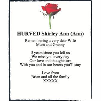 Shirley Ann Hurved (Ann)