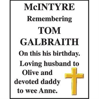 TOM GALBRAITH